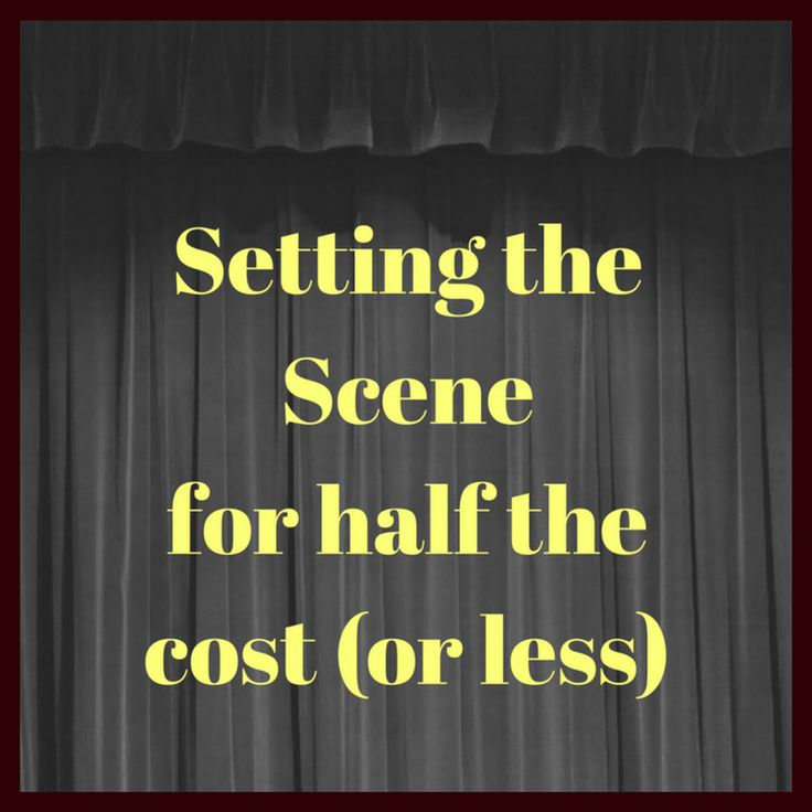 How to keep your stage design costs down when performing one of our murder mystery plays. Advice for amateur dramatics groups. Have a look.