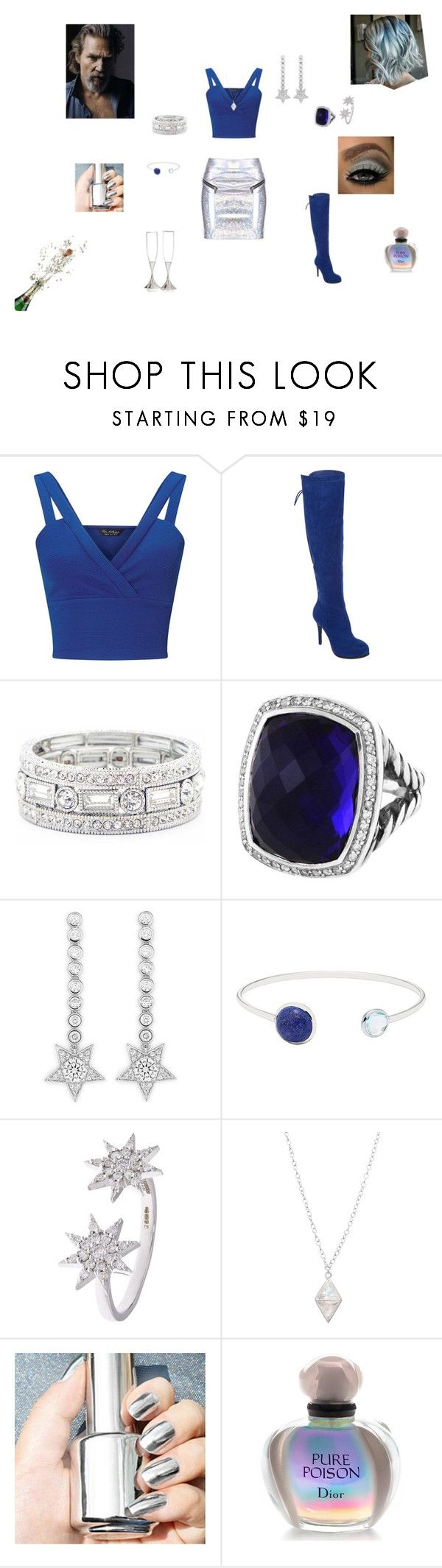 """Dazzle Him"" by browncoat4ever ❤ liked on Polyvore featuring Miss Selfridge, Two Lips, Sole Society, David Yurman, CZ by Kenneth Jay Lane, Lazuli, Bee Goddess, Christian Dior and Nambé"