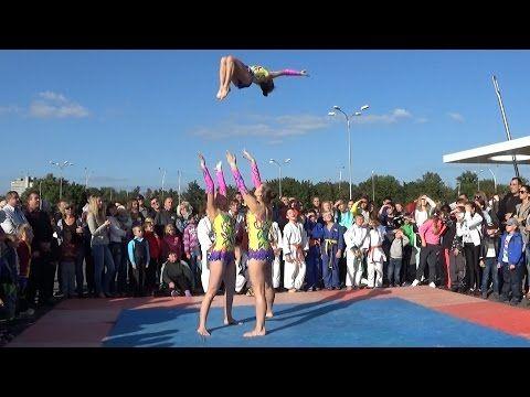 Спортивная акробатика - показательное выступление: Н. Колмогорова, А. Козолуп и Е. Шевчук (Сумы) - YouTube