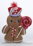Gingerbread Man with Lollipop Christmas Ornament