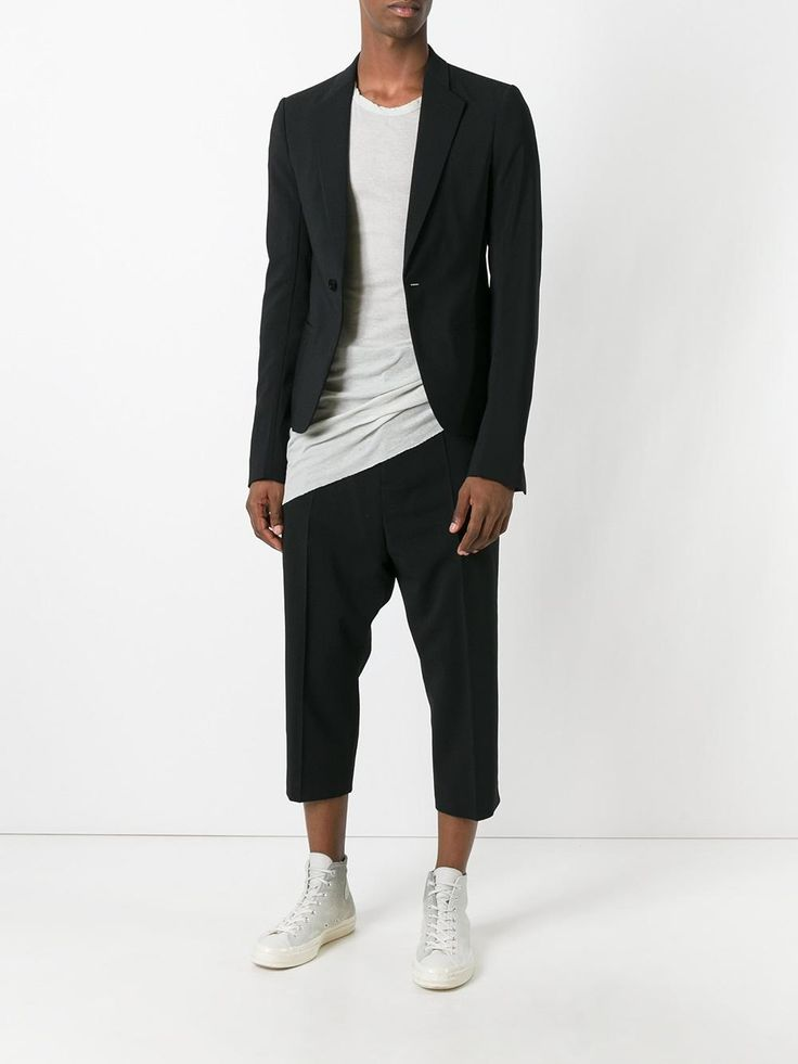 Visions of the Future // Rick Owens drop-crotch cropped trousers