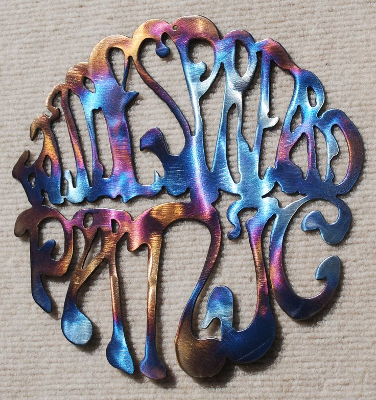 Widespread Panic Logo Metal Art - 12""