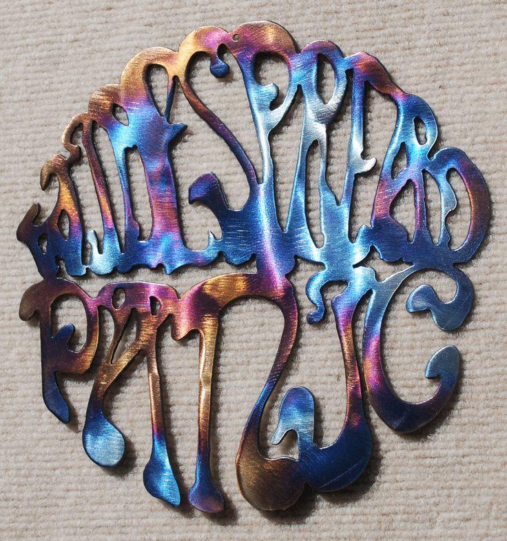 "Widespread Panic Logo Metal Art - 12"""