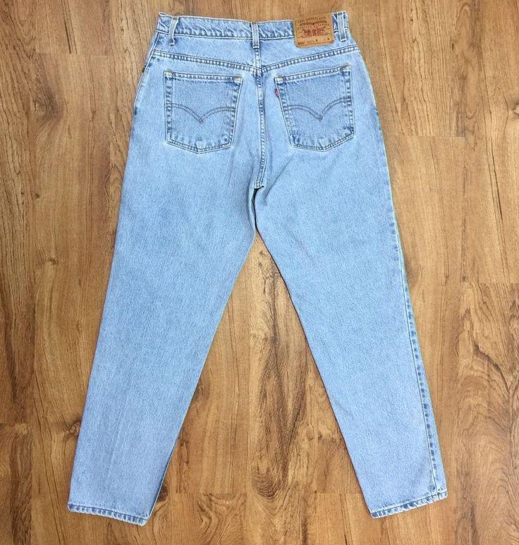 """Vtg 90s Levis 550 Jeans Relax Fit Taper Leg High Waist Womens 13 JR M Waist 31"""" #Levis #Vintage90sRelaxedFitTaperedLeg"""