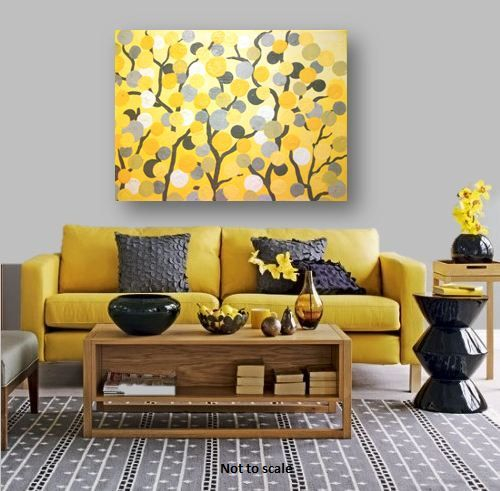 35 best images about gray and yellow canvas paintings on for Garden room 2x3