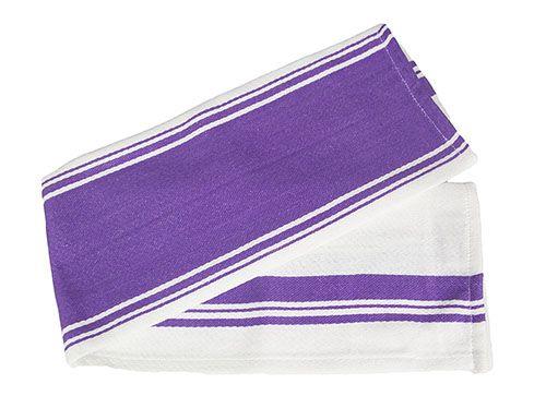 Striped Purple Tea Towels Set of Three