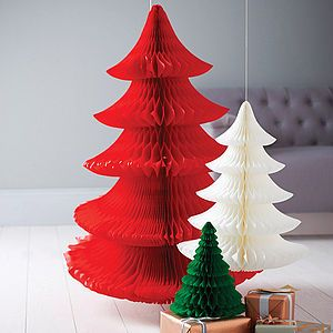 Tissue Paper Christmas Tree Decoration - less ordinary decorations