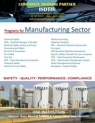 Exclusive Training Courses for Manufacturing Sector Professionals