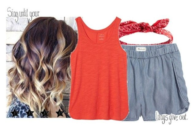 """""""4th of July music (read desc)"""" by gabbs-mckenzie ❤ liked on Polyvore featuring Charlotte Russe, Madewell and Banana Republic"""