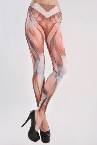 Women's Stretch Muscle Pattern Legging Tight Pant | GlobalMarket - Clothing on ArtFire