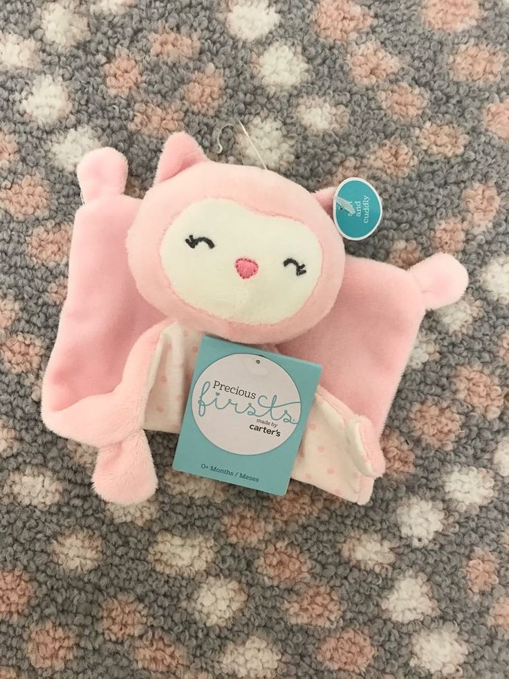 Baby Girl Owl Lovey Security Blanket Precious Firsts