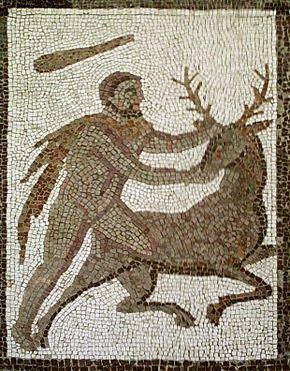 Mosaic dels dotze treballs d'Hèrcules procedent de Llíria, Camp de Túria