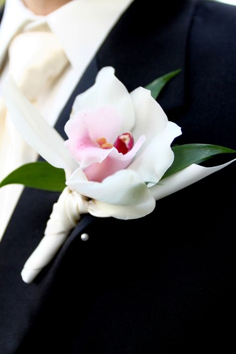 orchid groom boutonniere inspiration