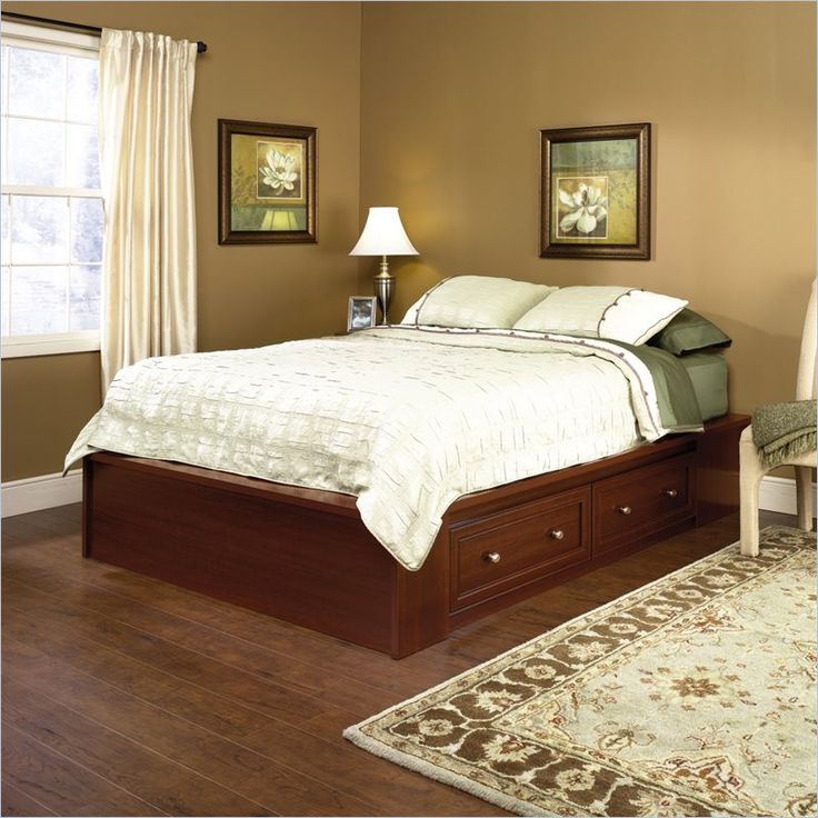 Queen Platform Bed in Cherry. Best 25  Queen platform bed ideas on Pinterest   Queen platform