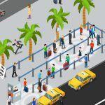 Havaalanlarında Oluşan Taksi Sırasına Cep Telefonları Yetişti