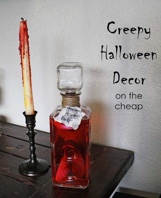 Creepy Halloween Decor (on the cheap)Halloween Parties, Halloween Decor, Creepy Halloween, Thrift Stores, Bleeding Candles, Halloween Ideas, Halloween Diy, Stores Creepy, Creepy Decor