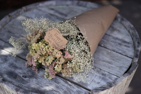 Deluxe Dried Statice Gift Bouquet Gift by BranchedBloomsDesign