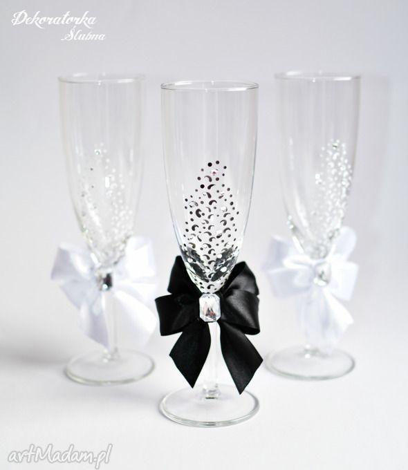 Recznie malowane kieliszki szampana sztuki szampan szampanówki lampki ślubne zestaw dwóch