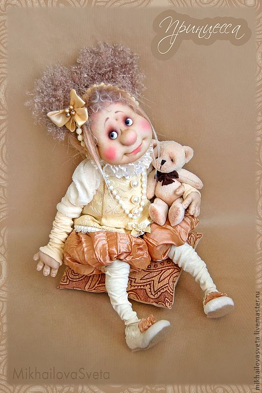 Купить Принцесса - подарок девушке, нежный, принцесса, подарок на день рождения, авторская кукла, текстиль