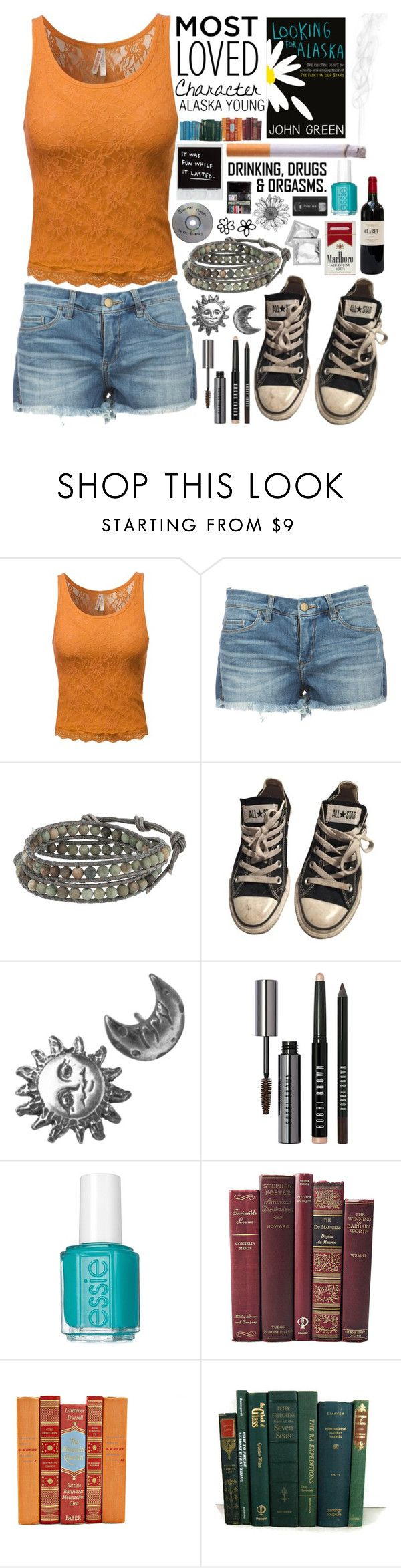 """Alaska Young"" by emily-mp3 ❤ liked on Polyvore featuring mode, Chan Luu, Converse, Stefanie Sheehan Jewelry, Bobbi Brown Cosmetics, Essie, Mother, JohnGreen, lookingforalaska et MostLovedCharacter"