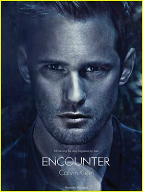 Alexander Skarsgard is smoking hot in the ad campaign for Calvin Klein's new men fragrance, Encounter!    The 35-year-old True Blood star will be featured in the brand's upcoming campaign, which will also include a TV campaign with model Lara Stone.