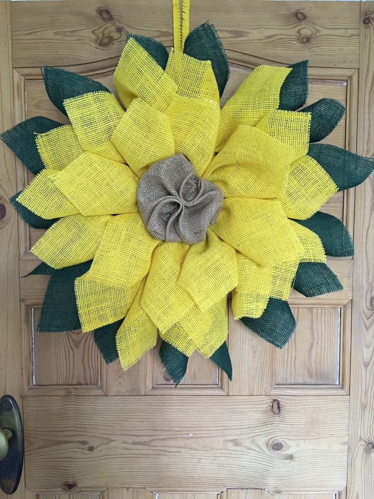 A personal favourite from my Etsy shop https://www.etsy.com/uk/listing/516809704/burlap-sunflower