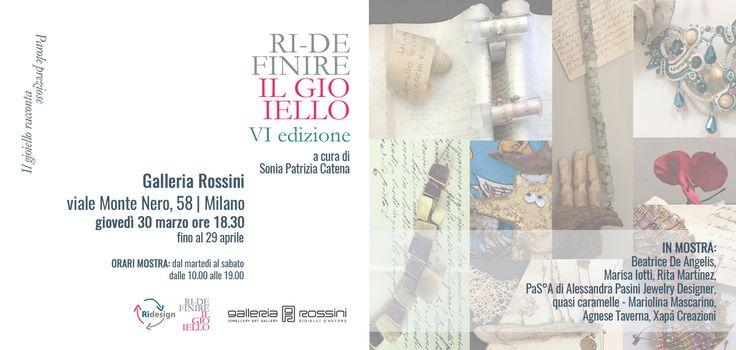 Dopo il successo della mostra a Nozze d'Incanto, la Galleria Rossini inaugurerà giovedì 30 marzo dalle ore 18.30 la seconda tappa di Wedding Art Jewels.D
