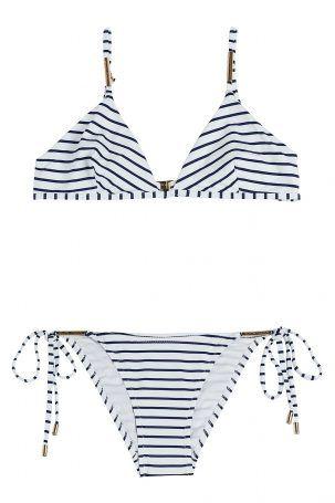 Melissa Odabash Melissa Odabash Gestreifter Bikini – Gestreift