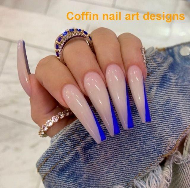 20 Trendy Coffin Nail Art Designs 1 Long Acrylic Nails Coffin Nails Long Long Acrylic Nail Designs