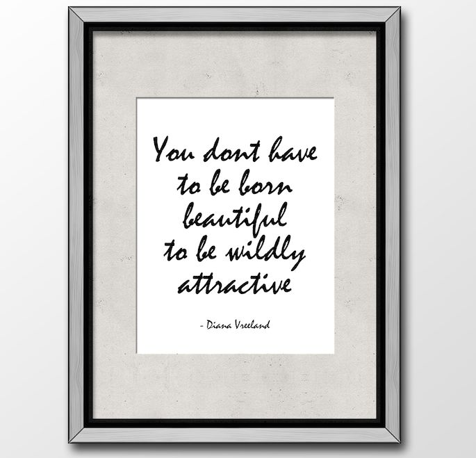 Diana Vreeland Quote, Lovely Quotes, Modern Black And White, Typography, Wall Art, Quotes To Remember, Love this