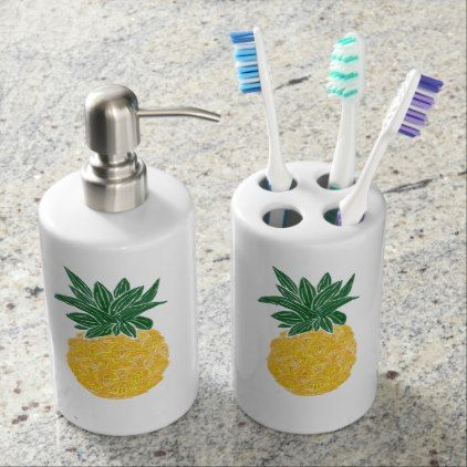 Tropical Pineapple Toiletry Set - diy cyo customize create your own personalize