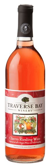 Cherry Riesling Wine - Northern Michigan - Traverse City This unique and flavorful wine was made from our Semidry Riesling Wine and Northern Michigan Cherry Wine. Simply put, this enchanting semidry wine displays crisp, fruity style with a delicate hint of cherry.
