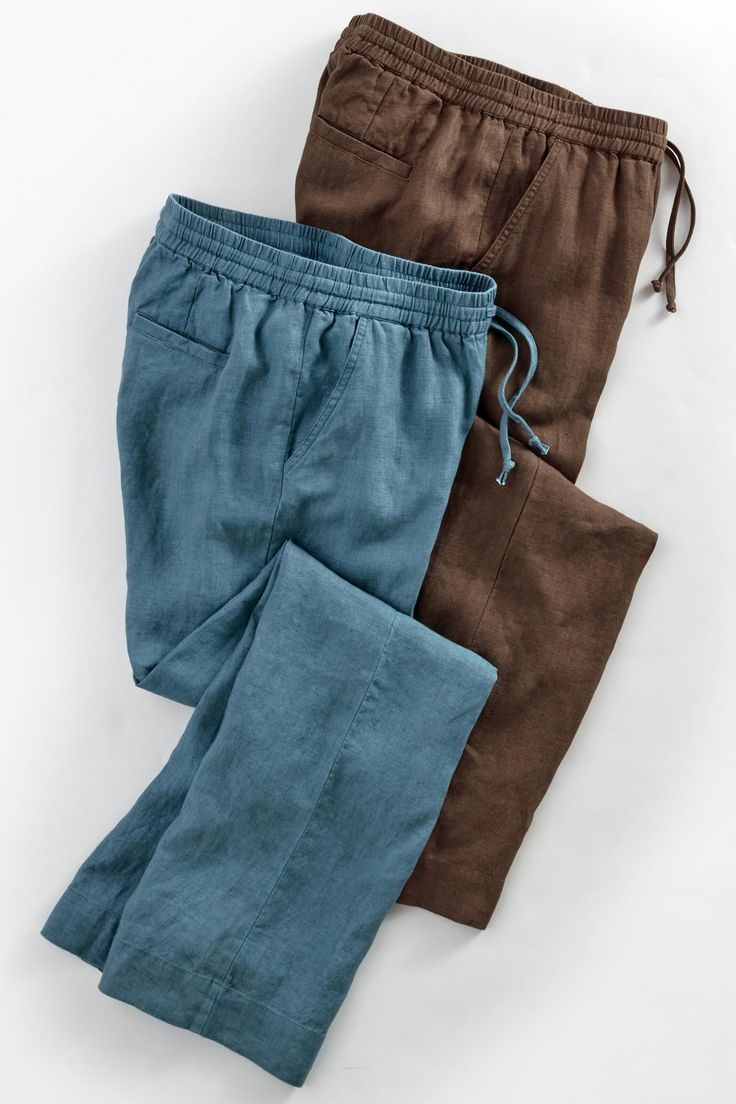 Drawstring Waist Linen Pants: Exceptional Casual Clothing for Men & Women from #TerritoryAhead $69.50 - $94.50