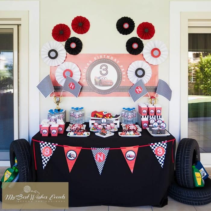 Disney Cars Party with SO MANY Ideas via Kara's Party Ideas | KarasPartyIdeas.com #Disney #RaceCar #Party #Idea #mybestwishes