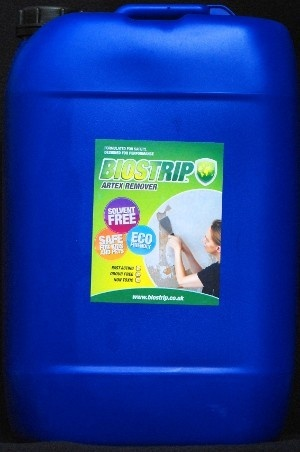 Biostrip Artex Remover is a revolutionary new Artex removal system that is safer both for user and the environment.