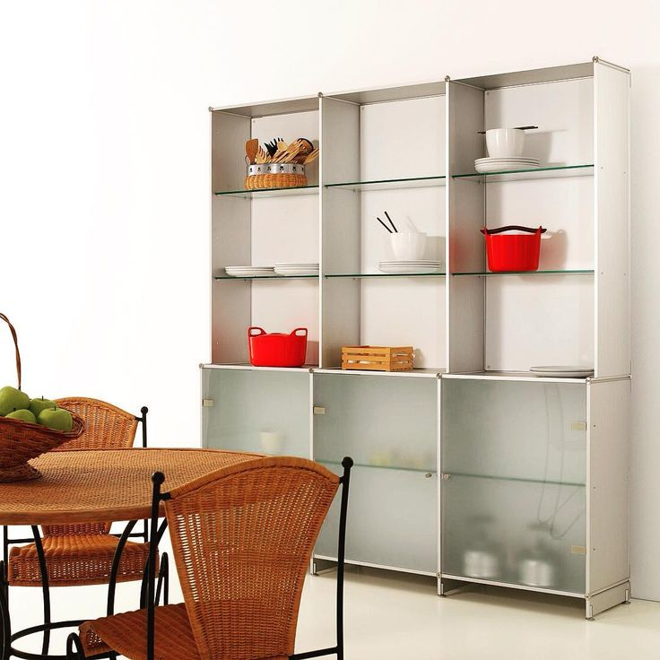 Another FITTING furniture composition suitable in the #kitchen. Framework aluminum. Endless modularity #interiordesign #beauty #pretty #furniture #aluminum