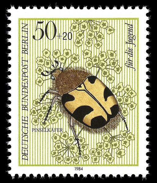 """Germany stamp 1984 Found this image on a Flickr group called """"Collage Images"""" where you'll found tons of vintage and copyright-free images to use for your mixed media/collage art projects, all for free! To join or to submit your own copyright-free images go to http://www.flickr.com/groups/collageimages/"""