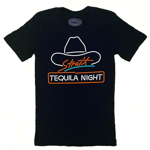 """""""STRAIT TEQUILA NIGHT"""" pays tribute to the golden era of 80s country, when artists such as George Strait and John Anderson dominated country radio. Threecolor"""