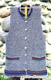 I would add a zipper instead of buttons.....Crochet Vest Patterns - Angelika's Yarn Store