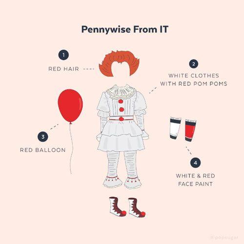 cómo hacer un disfraz casero diy del payaso pennywise de la pelicula IT #halloween #costumes #disfraces #infantil #kids #niños #disguise #diy #crafts #manualidades #original #facil #pennywise #itclown #clown #scary #creepy #easy