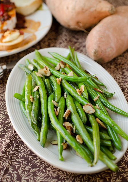 Classic Green Bean Almondine by Seeded at the Table, via Flickr. Add mushrooms onions, fresh herbs or top with fresh Parmesan if u like!