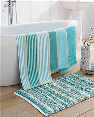 Best Bathroom Ideas Images On Pinterest Bathroom Ideas - Striped bath towels for small bathroom ideas