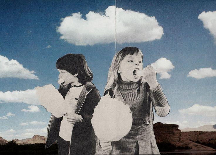 Joe Webb, The Cloud Eaters, Original Collage