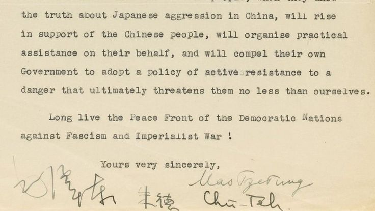 Chairman Mao letter to Clement Attlee fetches £605,000 - BBC News
