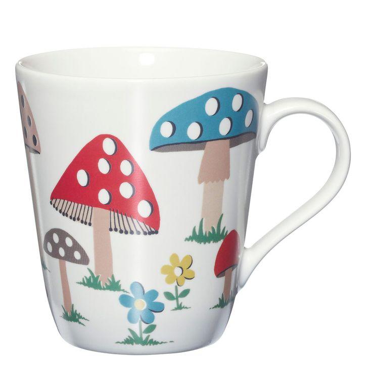 For all the coffee I drink when trying to study! SO CUTE! Mushroom | Mushroom Stanley Mug | CathKidston