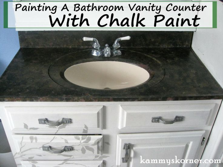 Korner: Painting A Porcelain Vanity Countertop with DIY chalk paint ...