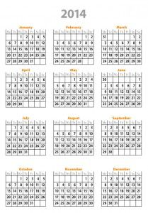Free year 2014 calendar template By Nikolay Dimitrov  2014 calendar template InDesign free for personal and commercial use.