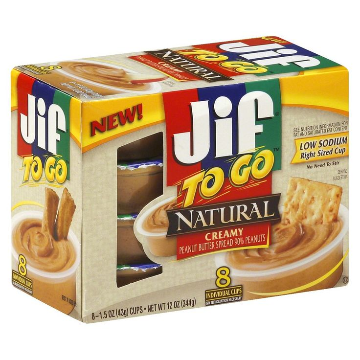 Jif Natural Peanut Butter To Go 12 oz 8 ct