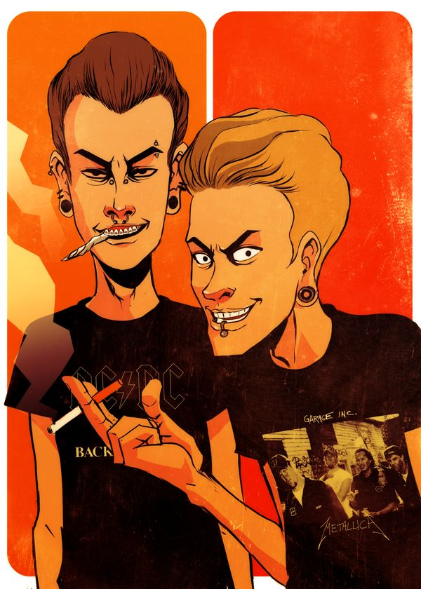 Beavis and Butthead by codexnoirmatic.