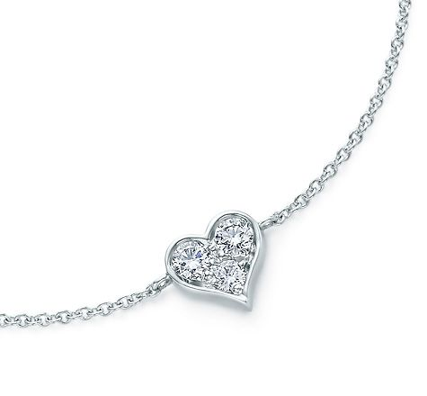 Tiffany & Co. | Item | Tiffany Hearts® bracelet in platinum with diamonds. | United States